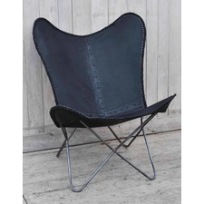 Leather Heart Butterfly Chair
