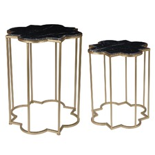 Marble Side Tables (Set of 2)