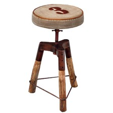 Industrial Wind Up Bar Stool