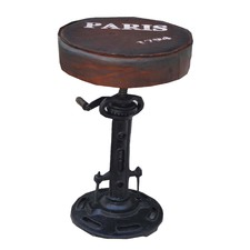 Industrial Paris Wind Up Bar Stool