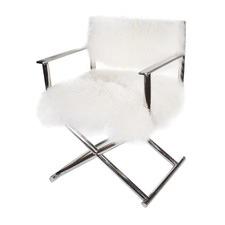 Lionel Mongolian Fur Directors Chair