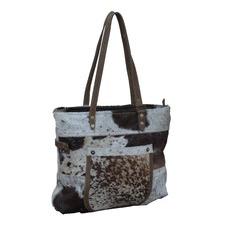 Zeeral Cow Hide Patch Pocket Handbag