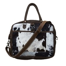 Jiner Cow Hide Work Satchel