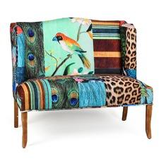European Designed Bird Print Seat Sofa