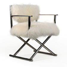 Cavan Mongolian Fur Directors Chair