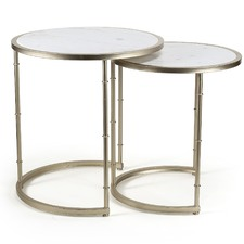 Assorted Set Of 2 Eclipse Marble Tables