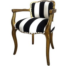 Striped Scalloped Armchair