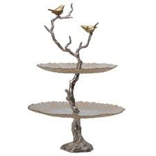 Bird & Tree 2 Tier Cake Stand