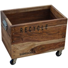 Wooden Recycling Bin