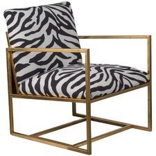 Modern Zebra Print Armchair