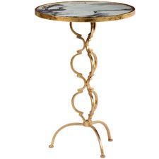 Gold Swirl Side Table
