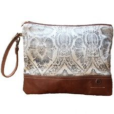 Tan Cheyenne Zip Clutch Bag