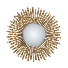 Gold Sunburst Iron Wall Mirror