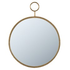 Time Piece Round Iron Wall Mirror