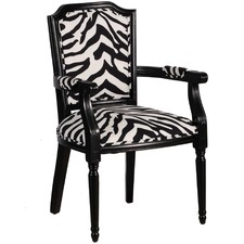 Regal Zebra Print Armchair