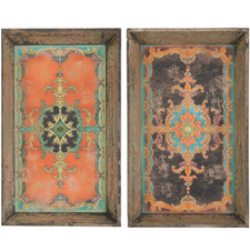 2 Piece Arcadia Wooden Tray Set