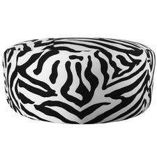 Monique Zebra Print Velvet Ottoman