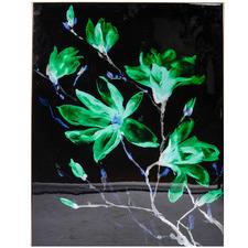 Green Magnolia Framed Canvas Wall Art
