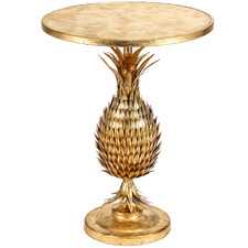Brushed Gold Tropicana Side Table