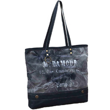 Damour Leather & Canvas Handbag