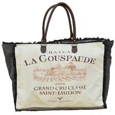 Grand Cru Leather & Canvas Handbag