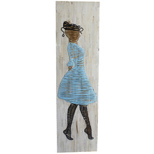 Lady Weave Wooden Wall Accent