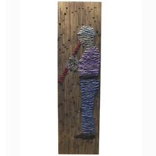 Musical Weave Wooden Wall Accent