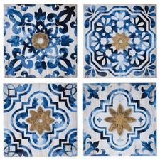 4 Piece Ocean Tile Wall Accent Set