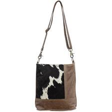 Cara Patch Goat Leather Handbag