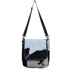 Black & White Josie Leather Satchel