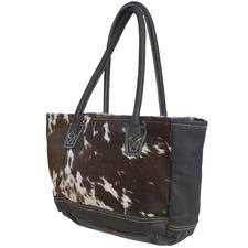 Borders Leather Handbag