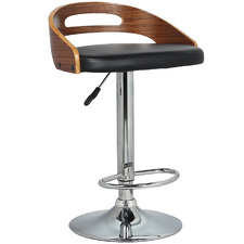 Natural & Black Hanson Faux Leather Adjustable Bar Stool