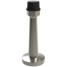 Tall Satin & Black Architectural Stainless Steel Door Stop