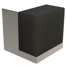 Satin & Black Cube Door Stop