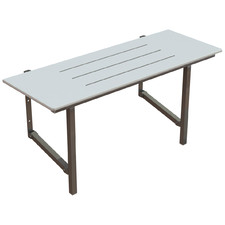 White Independent Living Folding Shower Seat