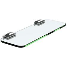 Chrome Plated Glass Bathroom Shelf