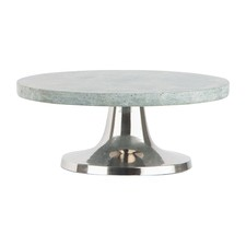 Small Green Round Cake Stand