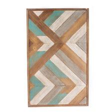Patterned Wooden Panel Wall Art II