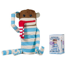 Blue & White Cotton Sock Laundry Bag
