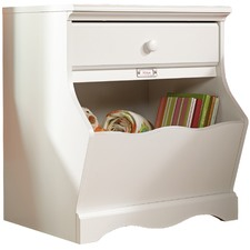 Soft White Pogo Night Stand