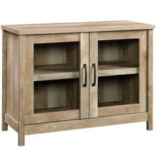 Light Timber Cannery Bridge Display Cabinet