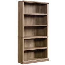 Salt-Finish Noomi 5 Shelf Bookcase