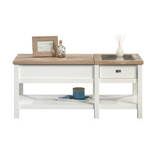 White & Natural Cottage Road Lift Top Coffee Table