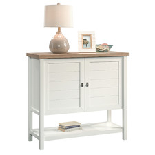 White & Natural Cottage Road Console Table