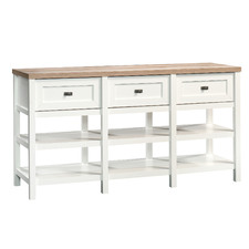 White & Natural Cottage Road Entertainment & Sideboard Unit