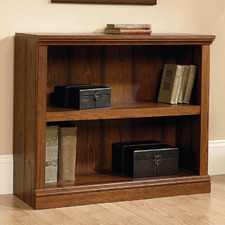 Cherry Washington Double Shelf Bookcase