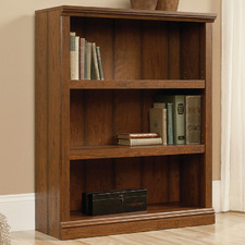 Cherry Washington Triple Shelf Bookcase