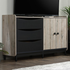 Medium Timber & Black Lemery TV Unit