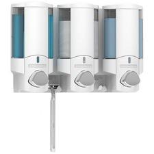 White Aviva Triple Dispenser with Chrome Button
