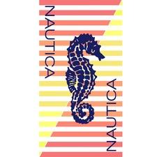 Sea Horse Printed Cotton Beach Towel